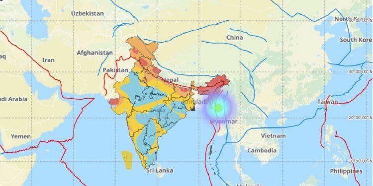 5.5 magnitude earthquake in Myanmar shakes Northeast India 1