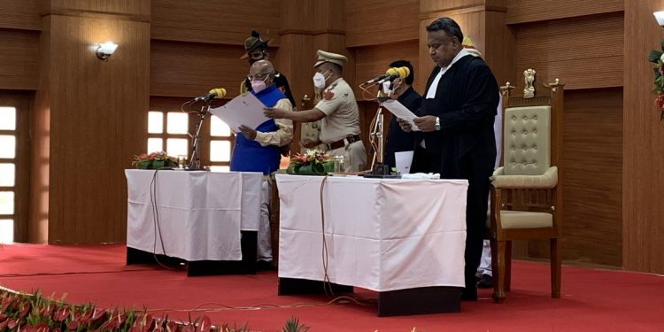 Indrajit Mohanty sworn-in as new chief justice of Tripura HC 1