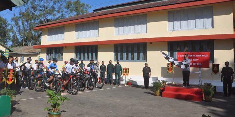 bicycle rally Assam Rifles Mizoram