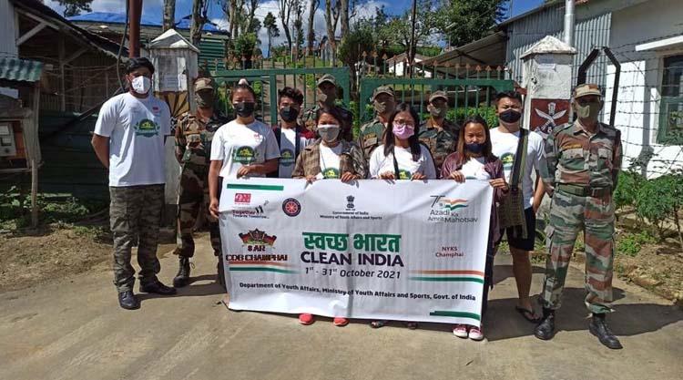 cleanliness drive Assam Rifles Mizoram